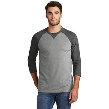 New Era  ®  Sueded Cotton Blend 3/4-Sleeve Baseball Raglan Tee. NEA121