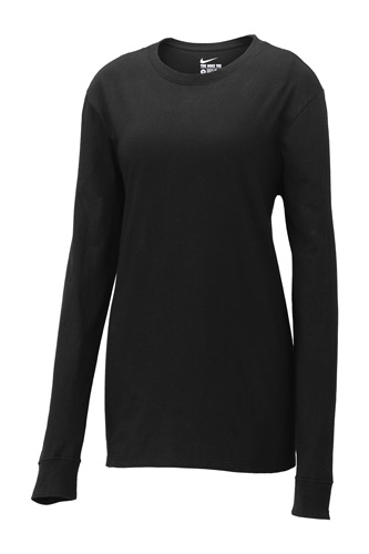 Nike Ladies Core Cotton Long Sleeve Tee. NKCD7300