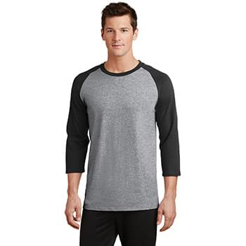 Port & Company ®  Core Blend 3/4-Sleeve Raglan Tee. PC55RS