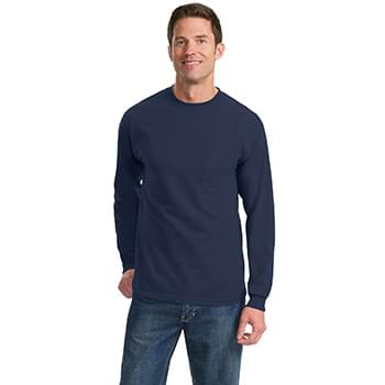 Port & Company ®  - Long Sleeve Essential Pocket Tee.  PC61LSP