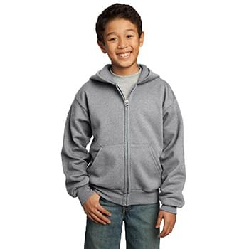 Port & Company ®  - Youth Core Fleece Full-Zip Hooded Sweatshirt.  PC90YZH