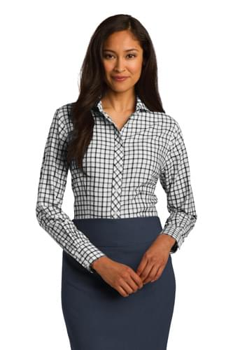 Red House ®  Ladies Tricolor Check Non-Iron Shirt. RH75