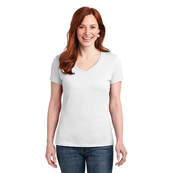 Hanes ®  Ladies Nano-T ®  Cotton V-Neck T-Shirt. S04V