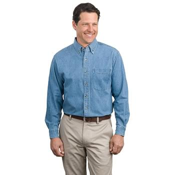 Port Authority ®  Long Sleeve Denim Shirt. S600