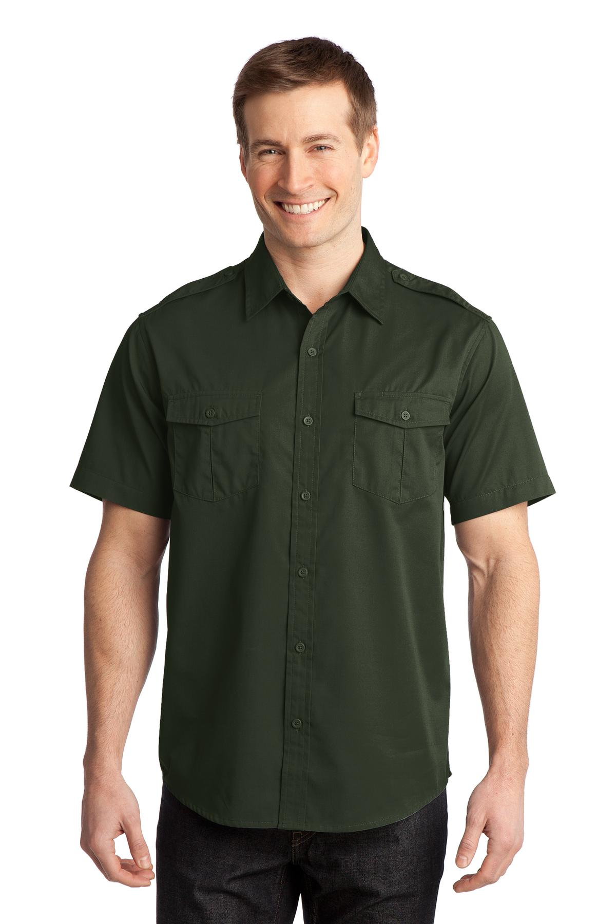 Port Authority ®  Stain-Release Short Sleeve Twill Shirt. S648