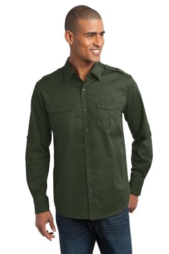 Port Authority ®  Stain-Release Roll Sleeve Twill Shirt. S649