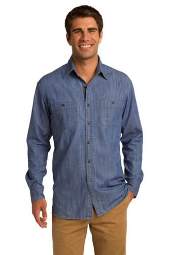 Port Authority ®  Patch Pockets Denim Shirt. S652