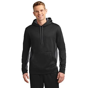 Sport-Tek ®  Sport-Wick ®  Fleece Colorblock Hooded Pullover. ST235