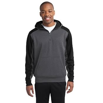 Sport-Tek ®   Tech Fleece Colorblock 1/4-Zip Hooded Sweatshirt. ST249
