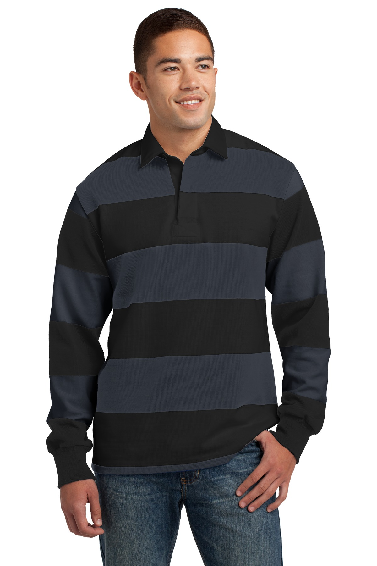Sport-Tek ®  Long Sleeve Rugby Polo. ST300