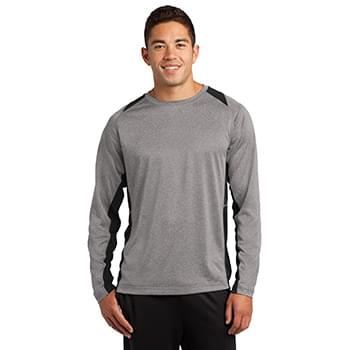 Sport-Tek ®  Long Sleeve Heather Colorblock Contender ™  Tee. ST361LS