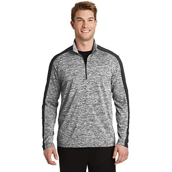 Sport-Tek ®  PosiCharge ®  Electric Heather Colorblock 1/4-Zip Pullover. ST397