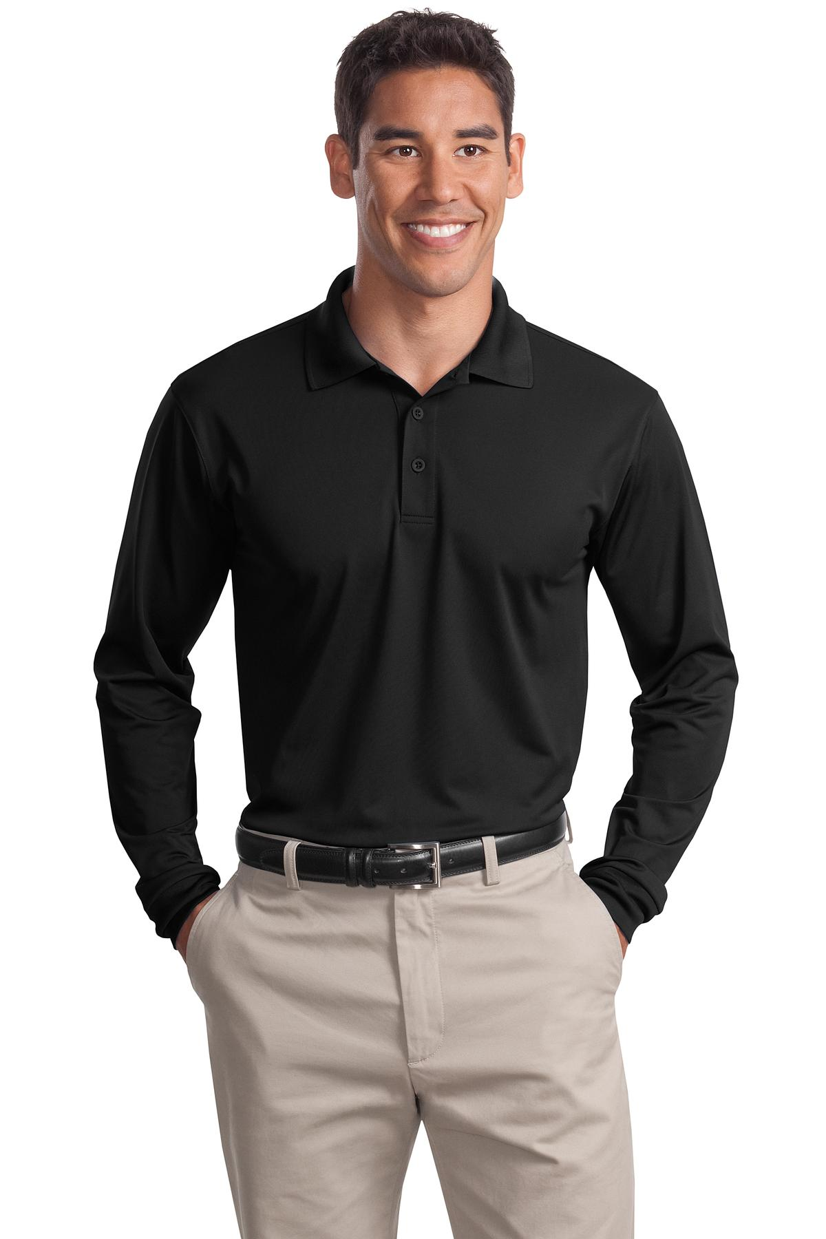 Sport-Tek ®  Long Sleeve Micropique Sport-Wick ®  Polo. ST657