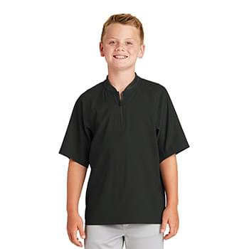 New Era  ®  Youth Cage Short Sleeve 1/4-Zip Jacket. YNEA600