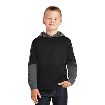 Sport-Tek ®  Youth Sport-Wick ®  Mineral Freeze Fleece Colorblock Hooded Pullover. YST231