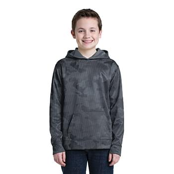 Sport-Tek ®  Youth Sport-Wick ®  CamoHex Fleece Hooded Pullover.  YST240