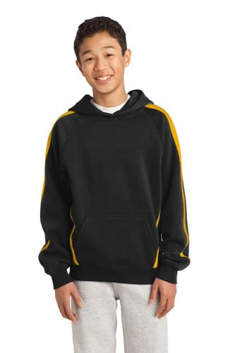 Sport-Tek ®  Youth Sleeve Stripe Pullover Hooded Sweatshirt. YST265