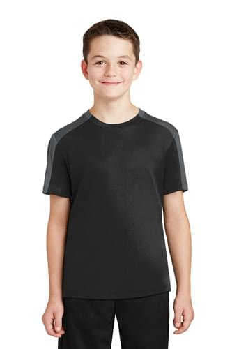 Sport-Tek ®  Youth PosiCharge ®  Competitor ™  Sleeve-Blocked Tee. YST354