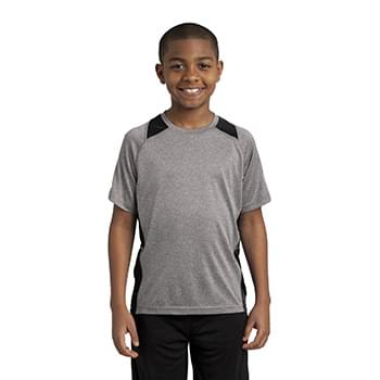 Sport-Tek ®  Youth Heather Colorblock Contender ™  Tee. YST361