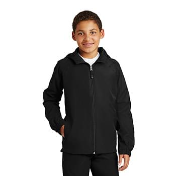 Sport-Tek ®  Youth Hooded Raglan Jacket. YST73