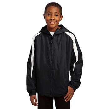 Sport-Tek ®  Youth Fleece-Lined Colorblock Jacket. YST81