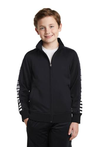 Sport-Tek ®  Youth Dot Sublimation Tricot Track Jacket. YST93