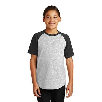 Sport-Tek ®  Youth Short Sleeve Colorblock Raglan Jersey. YT201